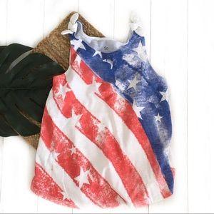 Girls youth flag patriotic americana tank top 10